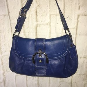 Royal Blue Coach Hobo Soho Pleated Shoulder Bag